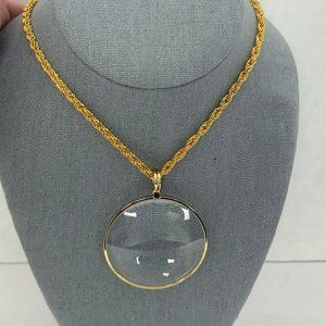 18k Gold-Plated BOLD Pendant Woven Chain Necklace
